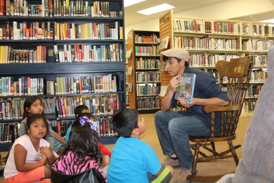 Chris Cantu Reads at CCPL 400x267.JPG